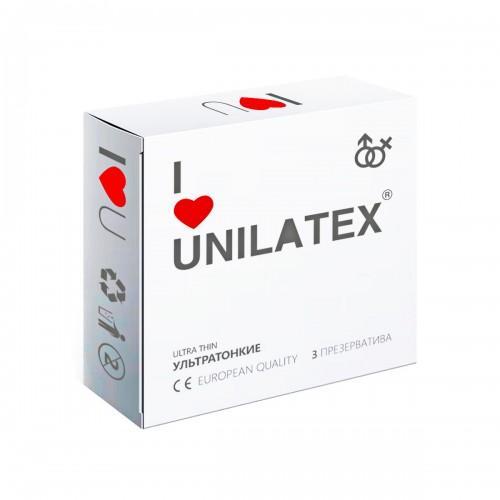 "ПРЕЗЕРВАТИВЫ UNILATEX ""ULTRA THIN"" ультратонкие, 3 шт., арт. 3012"