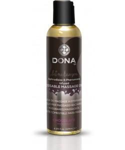 Массажное масло DONA Chocolate Mousse с ароматом шоколадного мусса - 125 мл.