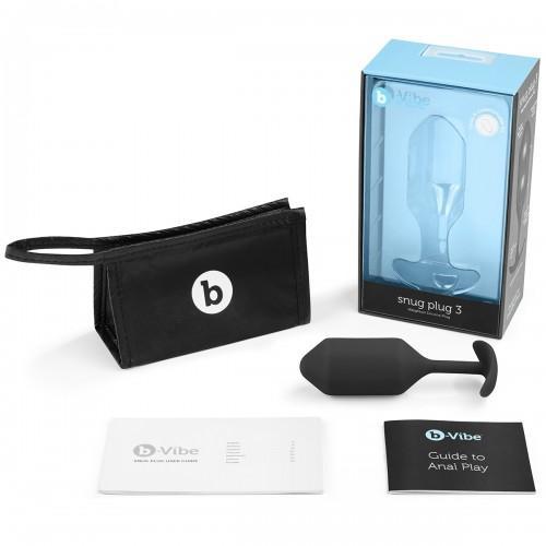 Профессиональная пробка для ношения B-vibe Snug Plug 3 BV-009-BLK Black