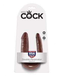 PipeDream King Cock Double Penetrator Фаллоимитатор реалистик двусторонний коричневый 33 x 3,2 см