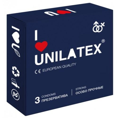 ПРЕЗЕРВАТИВЫ UNILATEX EXTRA STRONG особопрочные, 3 шт., арт. 3019