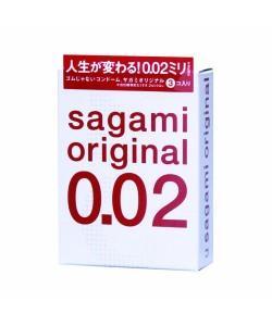 """Самые тонкие презервативы Sagami Original """"002"""" 3 шт."""