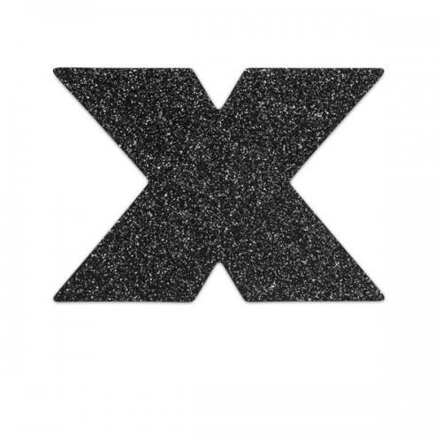 Bijoux Украшение на грудь Flash Cross черное