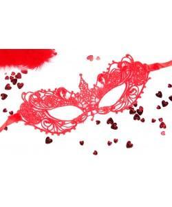 МАСКА АЖУРНАЯ КЭРОЛИН цвет красный арт. EE-20357-3