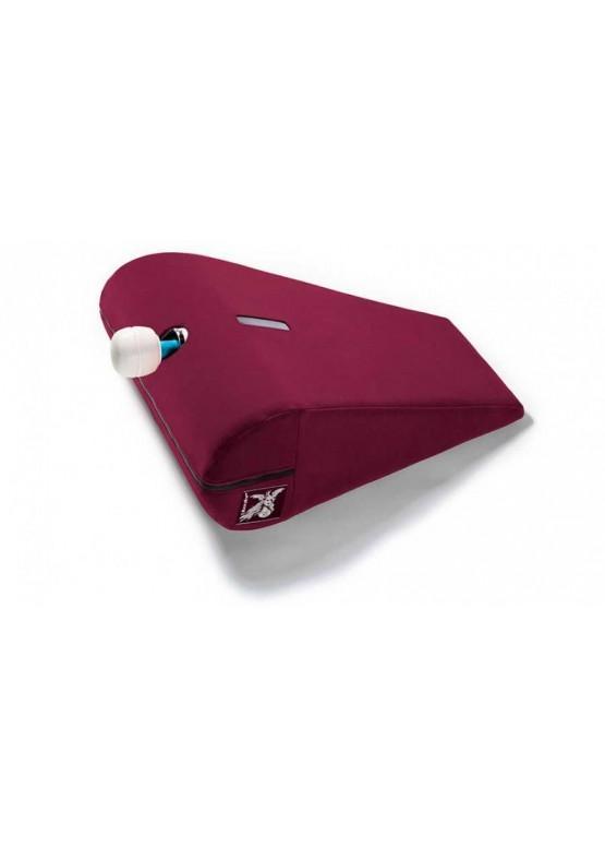 Liberator R-Axis Magic Wand Подушка для любви малая с отверстием под массажер, рубиновый вельвет