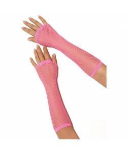 """Длинные перчатки-сетка """"Electric lingerie"""" фуксия"""