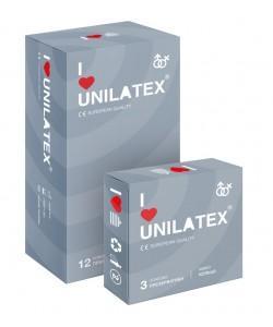 ПРЕЗЕРВАТИВЫ UNILATEX RIBBED с рифленой поверхностью, 12 шт., арт. 3021