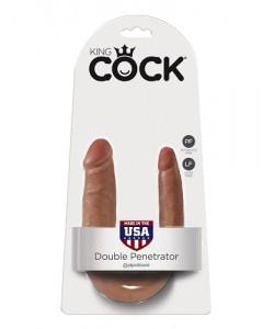 Фаллоимитатор двусторонний PipeDream King Cock U-Shape Double Penetrator Small 551322