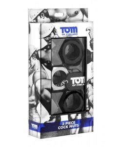 Набор из 3 эрекционных колец разного цвета Tom of Finland