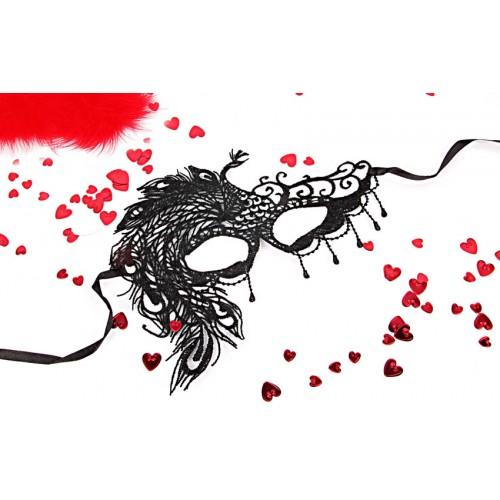 МАСКА АЖУРНАЯ МИЛЕНА цвет чёрный, текстиль арт. EE-20368