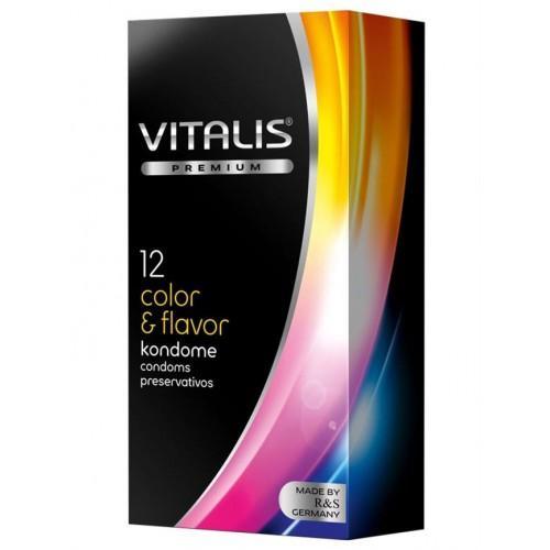 Презервативы цветные ароматизированные VITALIS Color 12 шт