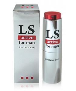 """Возбуждающий спрей для мужчин Bioritm """"LoveSpray Active"""" 18 мл"""