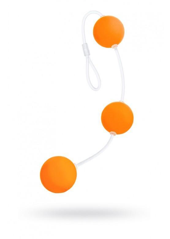 Анальные шарики Sexus Funny Five, оранжевые, 19,5 см