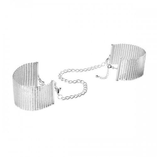 Bijoux Наручники из металлической сетки серебряные 200