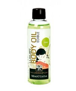 """Съедобное массажное масло """"Shiatsu Luxury Body Oil"""" Лайм"""