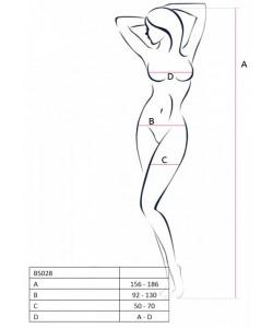 КОМБИНЕЗОН ОТКРЫТЫЙ ОЖИДАНИЕ (PASSION), размер S/XXL, арт. 03719