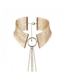 Bijoux Ошейник из металлической сетки золотой 145