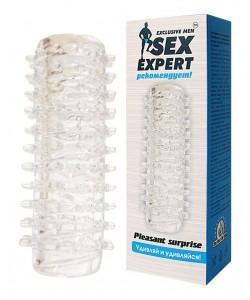 """НАСАДКА для пениса 2 в 1 SexExpert """"Pleasunt"""" арт. SEM-55008"""