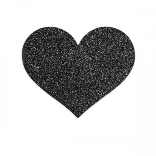 Bijoux Украшение на грудь Flash Heart черное
