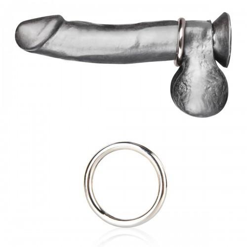 Стальное эрекционное кольцо 3,5 см STEEL COCK RING BLM4001