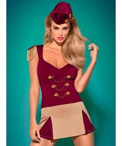OBSESSIVE Игровой костюм Majorette L/XL бордовый