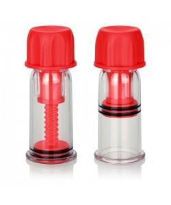 Красные винтовые помпы для сосков COLT Nipple Pro-Suckers