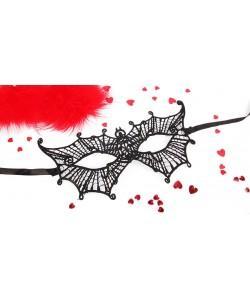 МАСКА АЖУРНАЯ ДЖОАН цвет чёрный, текстиль арт. EE-20360