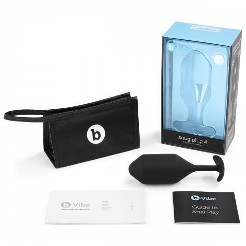 Профессиональная пробка для ношения B-vibe Snug Plug 4 BV-010-BLK Black