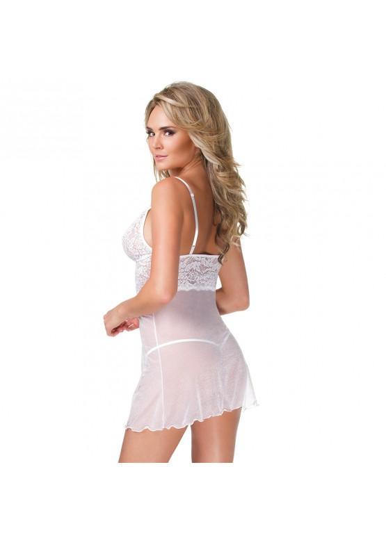 Белое платье с кружевным лифом 1962WHTCQ