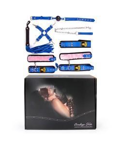 НАБОР (наручники, оковы, ошейник с поводком, кляп, плеть, фиксатор) арт. NTB-80479