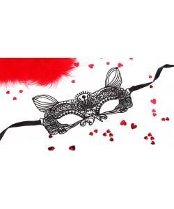 МАСКА АЖУРНАЯ КЭТТИ цвет чёрный, текстиль арт. EE-20361