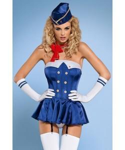 "Игровой костюм Obsessive ""Стюардесса"" Corset S/M"
