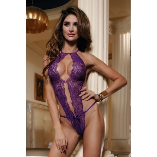 БОДИ КРУЖЕВНОЕ фиолетовое, размер OS арт. 840043