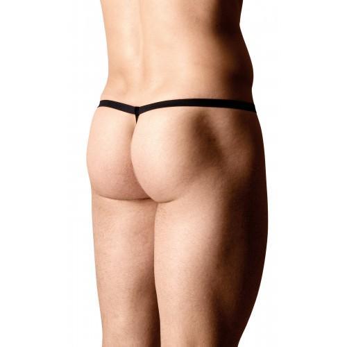Стринги мужские из сетки Зебра SoftLine Collection, чёрный, OS