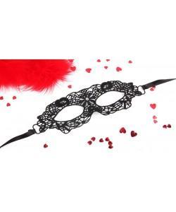 МАСКА АЖУРНАЯ ОДРИ цвет чёрный, текстиль арт. EE-20354