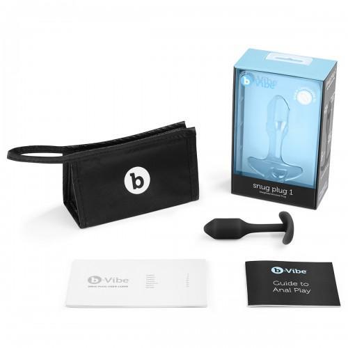 Профессиональная пробка для ношения B-vibe Snug Plug 1 Black BV-007-BLK