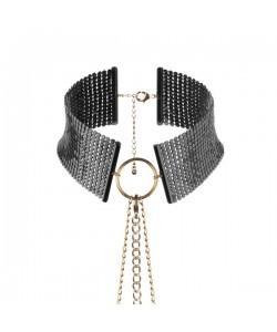 Bijoux Ошейник из металлической сетки черный 144