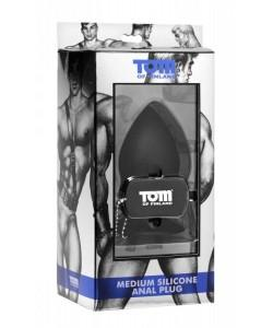 Анальная пробка «Medium Silicone Anal Plug» Tom of Finland - 10 см