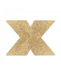 Bijoux Украшение на грудь Flash Cross золотое