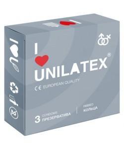 ПРЕЗЕРВАТИВЫ UNILATEX RIBBED с рифленой поверхностью, 3 шт., арт. 3018