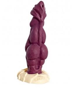 Бордовый фаллоимитатор Erasexa Дракон  - 22 см.