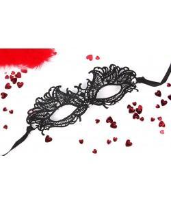 МАСКА АЖУРНАЯ ЭМИЛИЯ цвет чёрный, текстиль арт. EE-20370