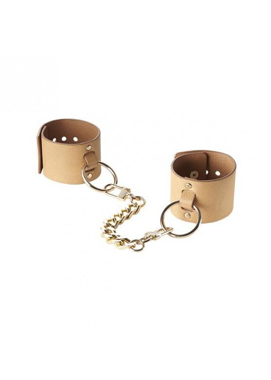 Bijoux Браслеты - наручники Wide Cuffs коричневые 247