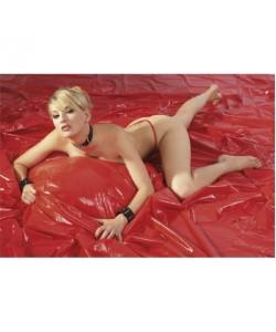 Fetish Виниловая простыня красная 200х230 см