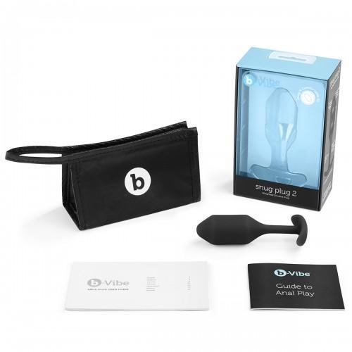 Профессиональная пробка для ношения B-vibe Snug Plug 2 Black BV-008-BLK