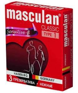 "Презервативы Masculan ""Sensitive"" 3 шт."