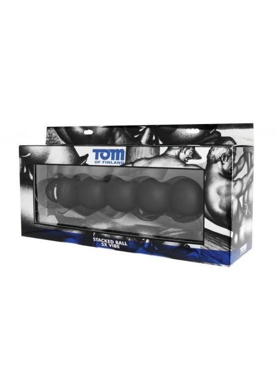 Анальный вибромассажер «Stacked Ball 5 Mode Vibe» Tom of Finland - 24 см