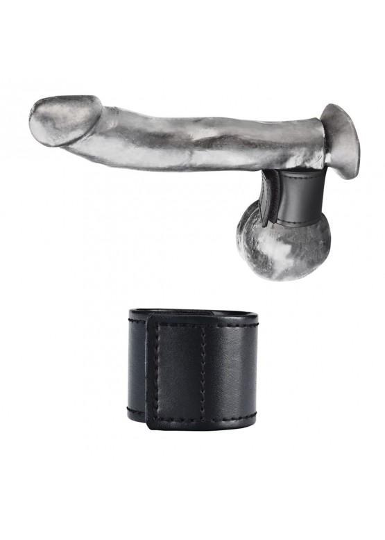 Хомут-утяжка для мошонки из искусственной кожи на липучке VELCRO BALL STRETCHER