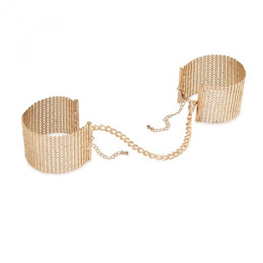 Bijoux Наручники металлические золотые 143