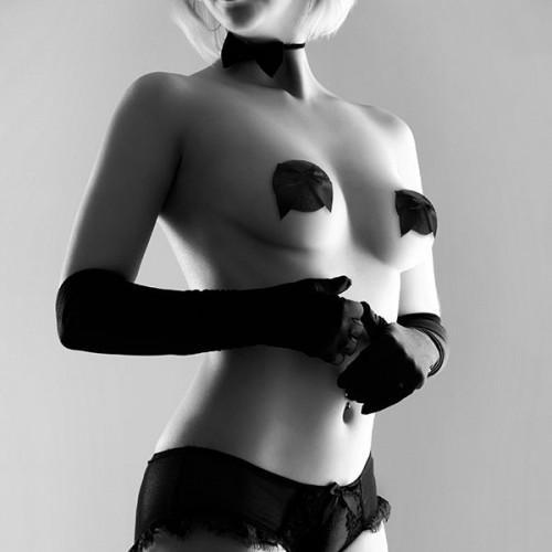 Bijoux Украшение на грудь бантик черное